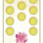 Zehn der Münzen