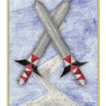 Tarotkarte – Zwei der Schwerter