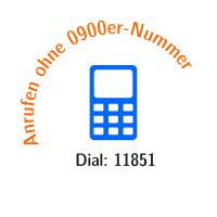 Anrufen ohne 0900er-Nummer